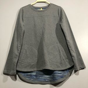Lole Gray hi low loose long sleeve sweatshirt Top